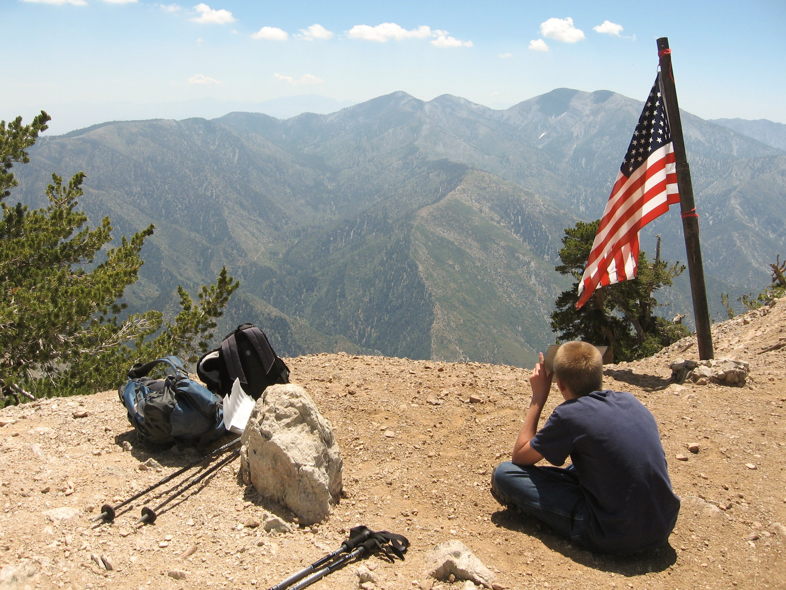 On Target on Mt. Baden Powell.